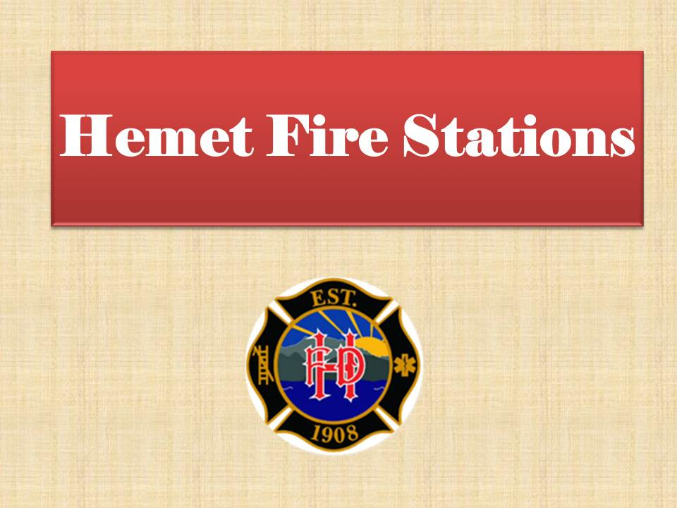 Hemet Fire Stations