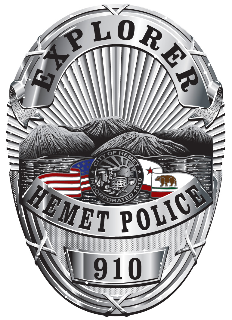 Hemet Police Explorer Badge
