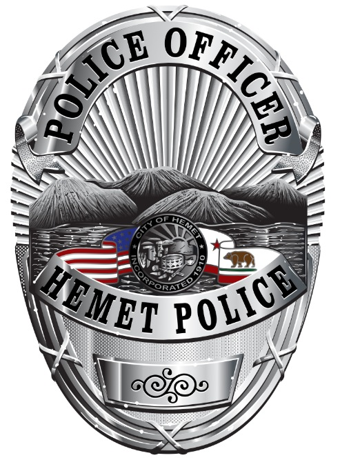 Hemet Police Badge