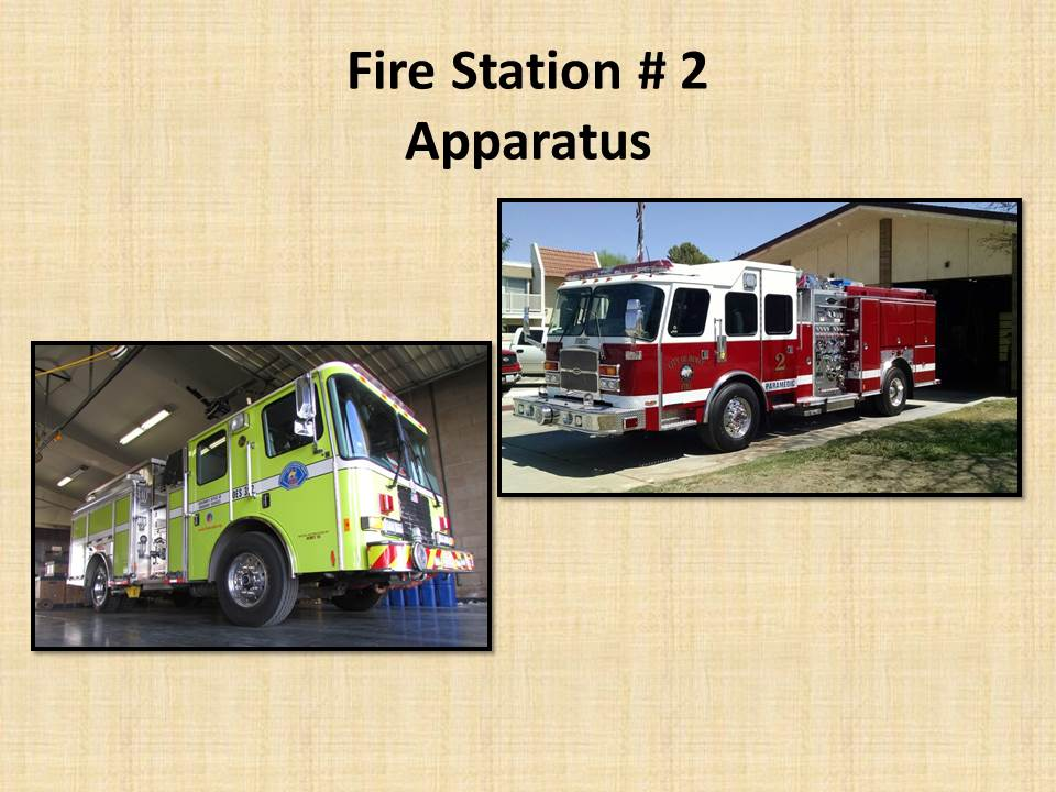 Fire Station 2 Apparatus