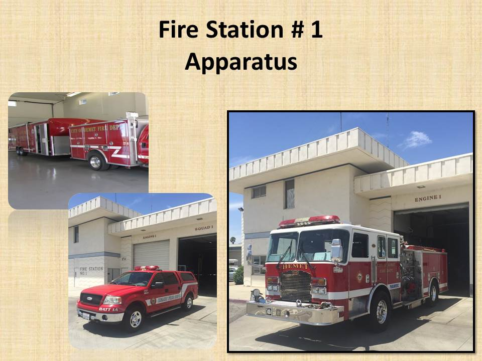 Fire Station 1 Apparatus