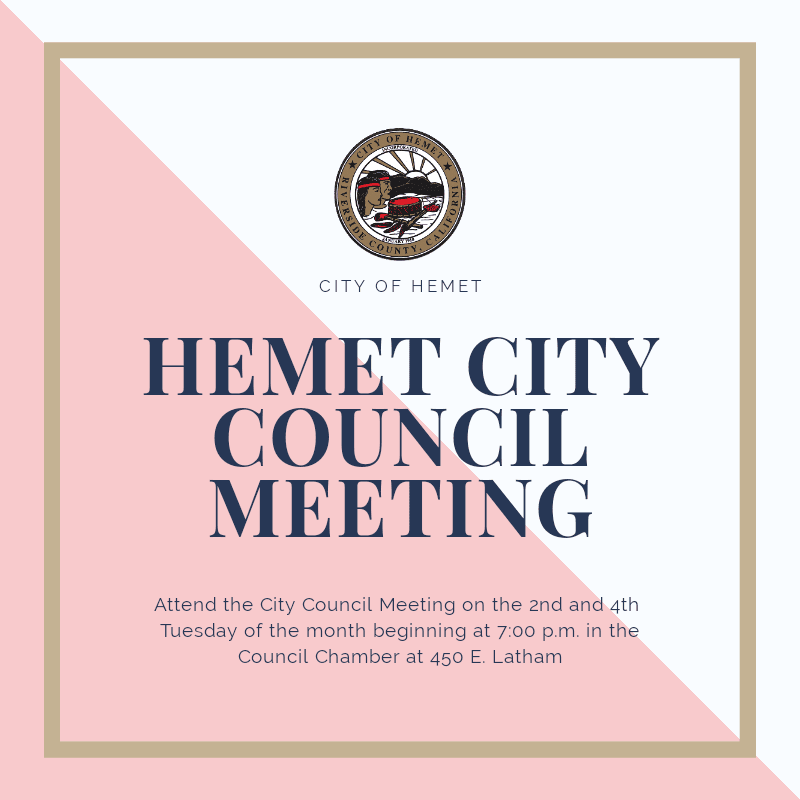 Council Meeting Flyer