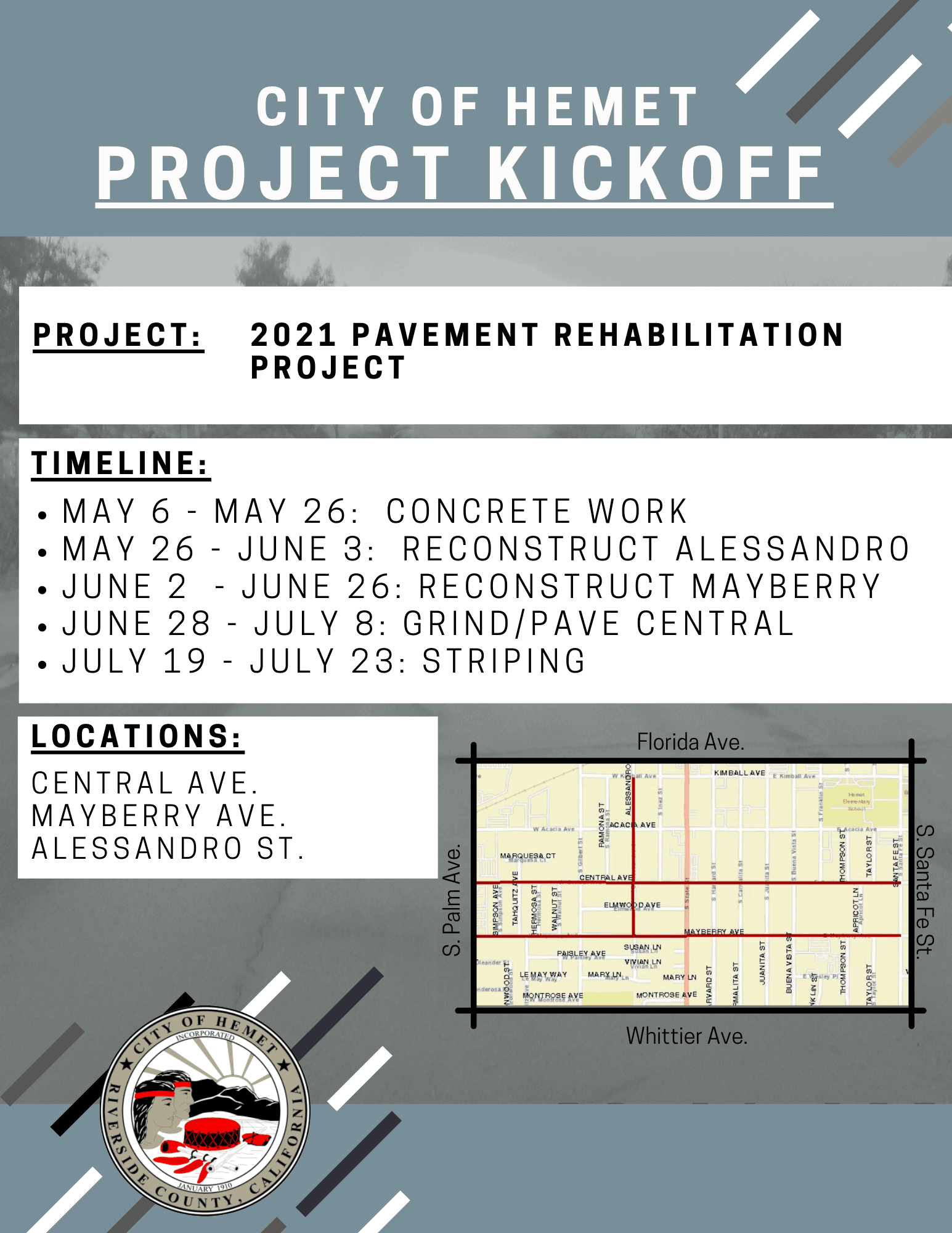 Pavement Rehab Kick Off May 2021
